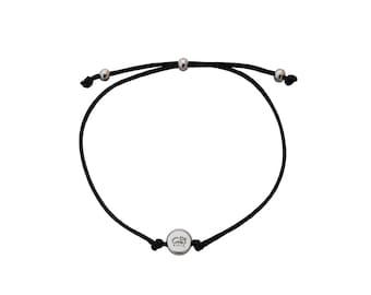 Fabric bracelet Dakar in silver