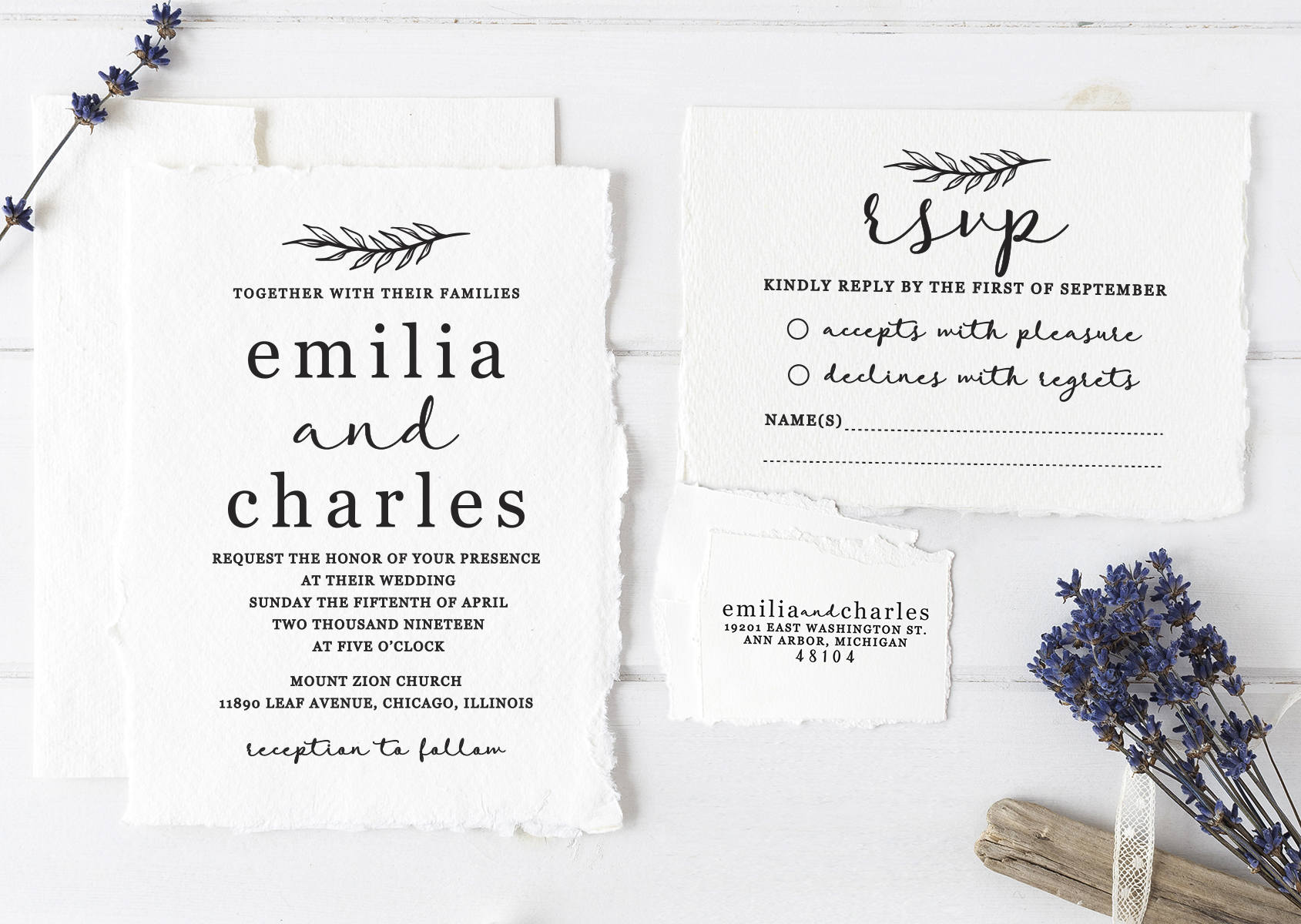 Wedding Invitation Stamp Suite. Custom Wedding Stamps