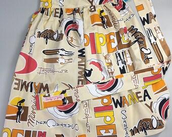 Half Apron - Vintage Pin Up Skirt Style - Surfs Up
