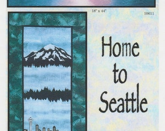 Home to Seattle Quilt pattern, Lisa Moore, Quilts with a Twist, DIY Pattern