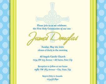Boy's First Communion Invitations, Communion Invitations, First Holy Communion Invitations, Communion invitations for Boys