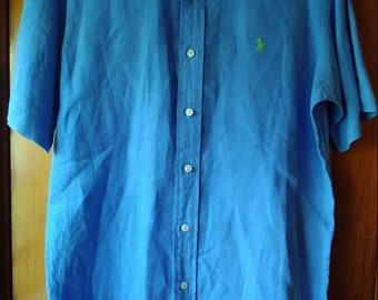 Polo Ralph Lauren Short Sleeve Button Down // Sky Blue Size Small // Classic Fit