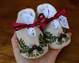 """Special edicition """"Spring"""" Baby shoes - 1-3 month"""
