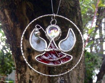 Christmas sphere / christmas suncatcher / tree suncatcher / stained glass / suncatcher / hanging decoration / tree decoration / Christmas