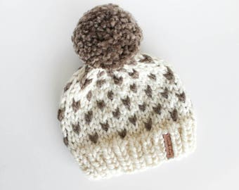 Heart Baby Beanie, Baby Knit Beanie, Kid's Knit Beanie, Chunky Knit Beanie, Infant Knit Beanie, Baby Winter Hat, Pom Pom Hat, Baby Shower