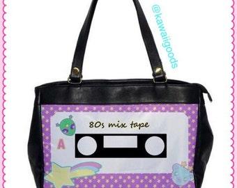 80s Mix Tape, Retro Fairy Kei Cassette Bag, Casette Bag