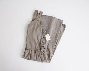 sun washed jumper | side button dress | cotton jumper dress