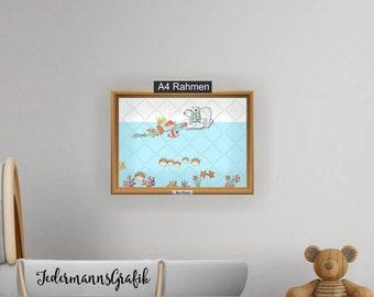 """Poster children-Children's room-""""ice floe Polar Bear"""" in 2 sizes-download"""
