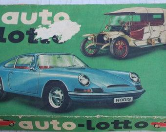 Spiel Gesellschaftsspiel Auto Lotto von Noris 70er 70s Autolotto Oldtimer antik