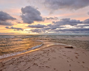Sable River Afterglow - Ludington - Michigan Photography - Stock Photography