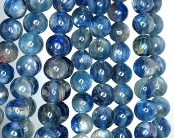 6mm Blue Kyanite Gemstone Grade A Round 6mm Loose Beads 5 inch (90185284-841)