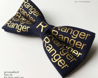 personalized dog and cat bow tie! name and color of your choice!