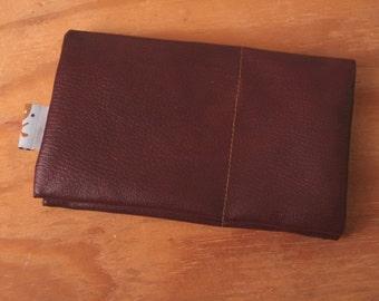 bordeaux wallet, vegan leather wallet, faux leather wallet, wallets for women, credit card wallet, Nisha Wallet