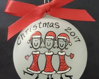 friends ornament,besties,bff,best friends,sisters christmas gift,BFF gift, friend, cousins, girl friends,foodies,book club