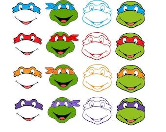 Ninja Turtles svg, 16 Ninja Turtles Cricut files, Birthday, SVG files for Cricut, SVG files for Cameo, SVG files