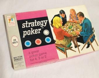 Strategy Poker  Board Game 1967 Milton Bradley
