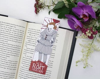 Pennywise - bookmark - It || horror, stephen king, clown, we all float down, horror lovers gift, scary clown, it movie, losers club