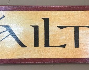 Vintage Styled Gaelic Welcome Sign