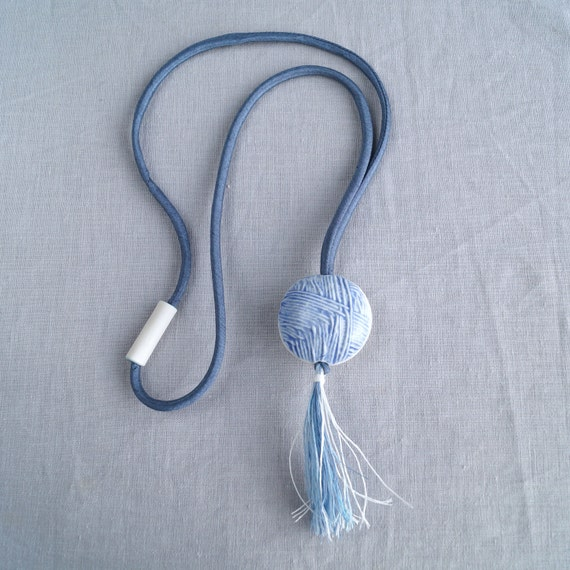 Ball of wool TASSEL necklace