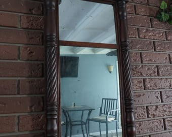 Vintage wooden hall mirror classic decor