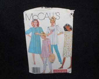 Misses Maternity Dress McCalls 2954 Womens 10 Top Pants