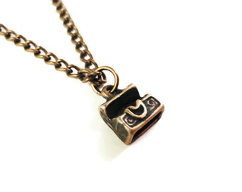 Treasure Chest Necklace, Pirate Necklace, Nautical Jewelry, Antique Copper Charm Necklace, Gifts for Her, Jewelry Gifts, Gifts for Teens