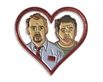 SHAUN + ED,  Shaun of the Dead Valentine Pin