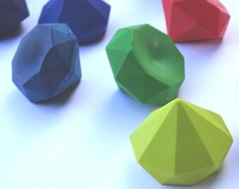 24 Gem Crayons - Novelty Crayons - Bluetiful - Gemstone Crayons - Party Favor - Stocking Stuffer