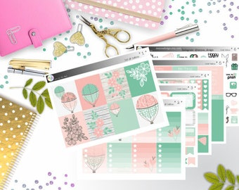 weekly kit - Hot Air Balloon (Erin Condren and Happy Planner Stickers)