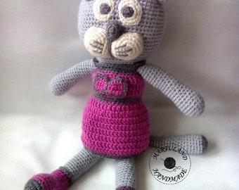 "PATTERN - Lynx ""Rysia Marysia"" - crochet amigurumi toy"