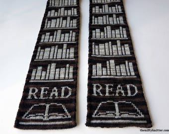 Knitting Pattern - Book Lover Scarf