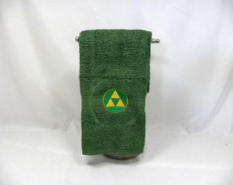 Legend of Zelda Triforce embroidered hand towel