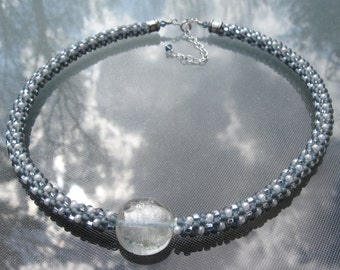 Storm Clouds Kumihimo Necklace