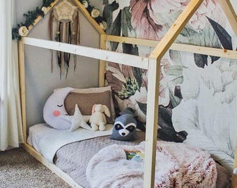Twin House Bed Frame Made In US