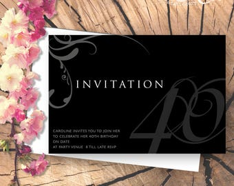 Sophisticated Printable Party Invitation
