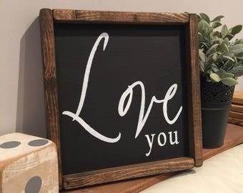 Love You Sign - Home Decor - Gallery Wall - Wooden Sign - Wall Art - Rustic Decor - Love - Gallery Sign