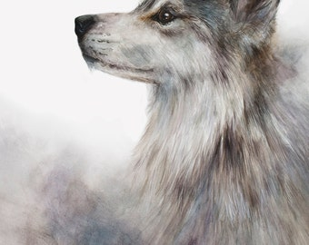 Wolf Painting Print