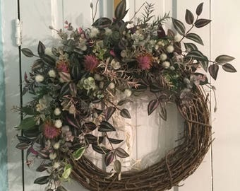 LEAVES & VINES Farmhouse Style Wreath