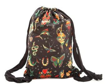 Backpack Tattoo Old School Black