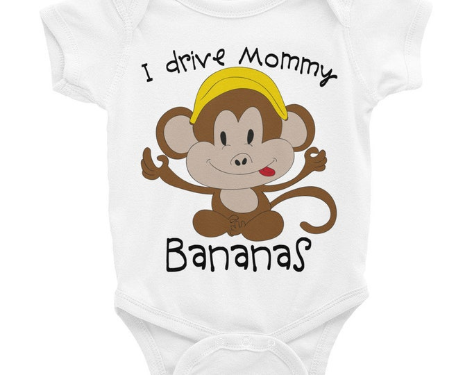 Funny Onesies, Cute Animals Onesie ® Monkey Onesie, Funny Baby Onesies, Monkey Shirt, Little Monkey Onesie, Cute Baby Bodysuit, Cute Onesie