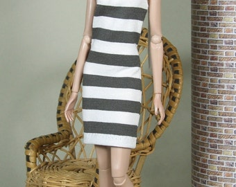 "Fashion Doll Kleid ""to the beach"" - dunkelgrau"