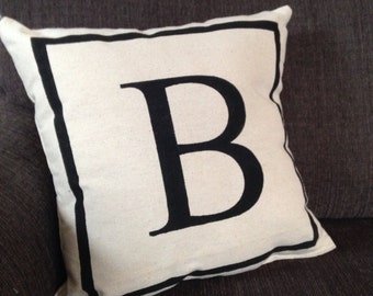 Letter - monogram pillow