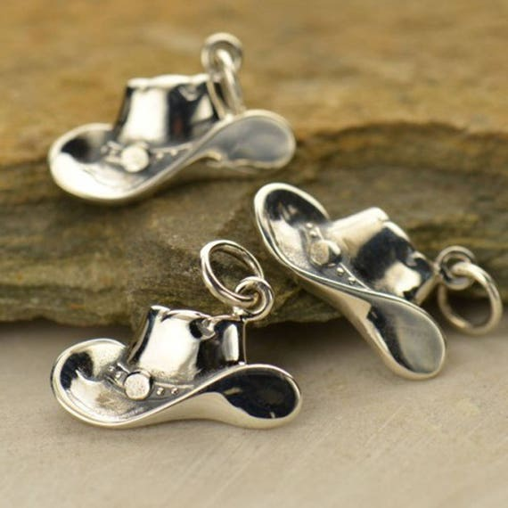 Add On - Sterling Silver Cowboy Hat Charm, Can add on to a Necklace or Bracelet