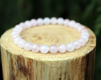 Rose Quartz Bracelet, Rose Quartz Jewellery, Rose Quartz, Yoga Bracelet, Gemstone Bracelet, Beaded Bracelet, Mens Bracelet, Womens Bracelet