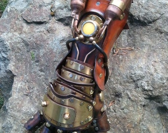 Steampunk Equalist Glove arm armor