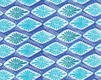 Horizon - Intersection Ultramarine - Kate Spain - Moda Fabric - Jewel Tones - Blue/Aqua Fabric