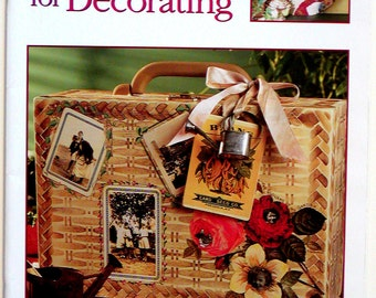 BH&G DECOUPAGE For DECORATING How-To Book Instructions Images Papers Project Ideas Home Decor Collage