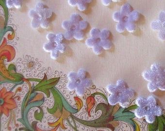 24 Velvet Forget Me Not Flowers Millinery Flower Making Or Scrapbooking Light Purple Lavender
