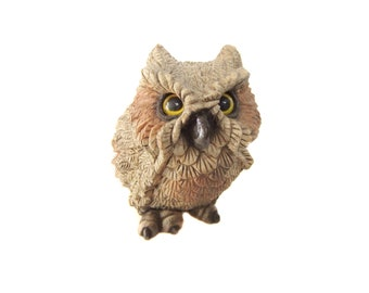 Owl Vintage Figurine, Owl Statue, Woodland Owl Decor, Owl Home Decor, Ceramic Owl, Retro Owl Figurine