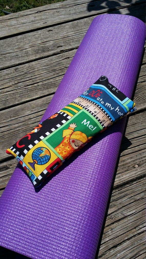 Yoga Eye Pillow/Relaxing Eye Pillow with Teacher print cover / yoga accessories / Meditation Eye Pillow /Teacher Gift / Teacher Appreciation
